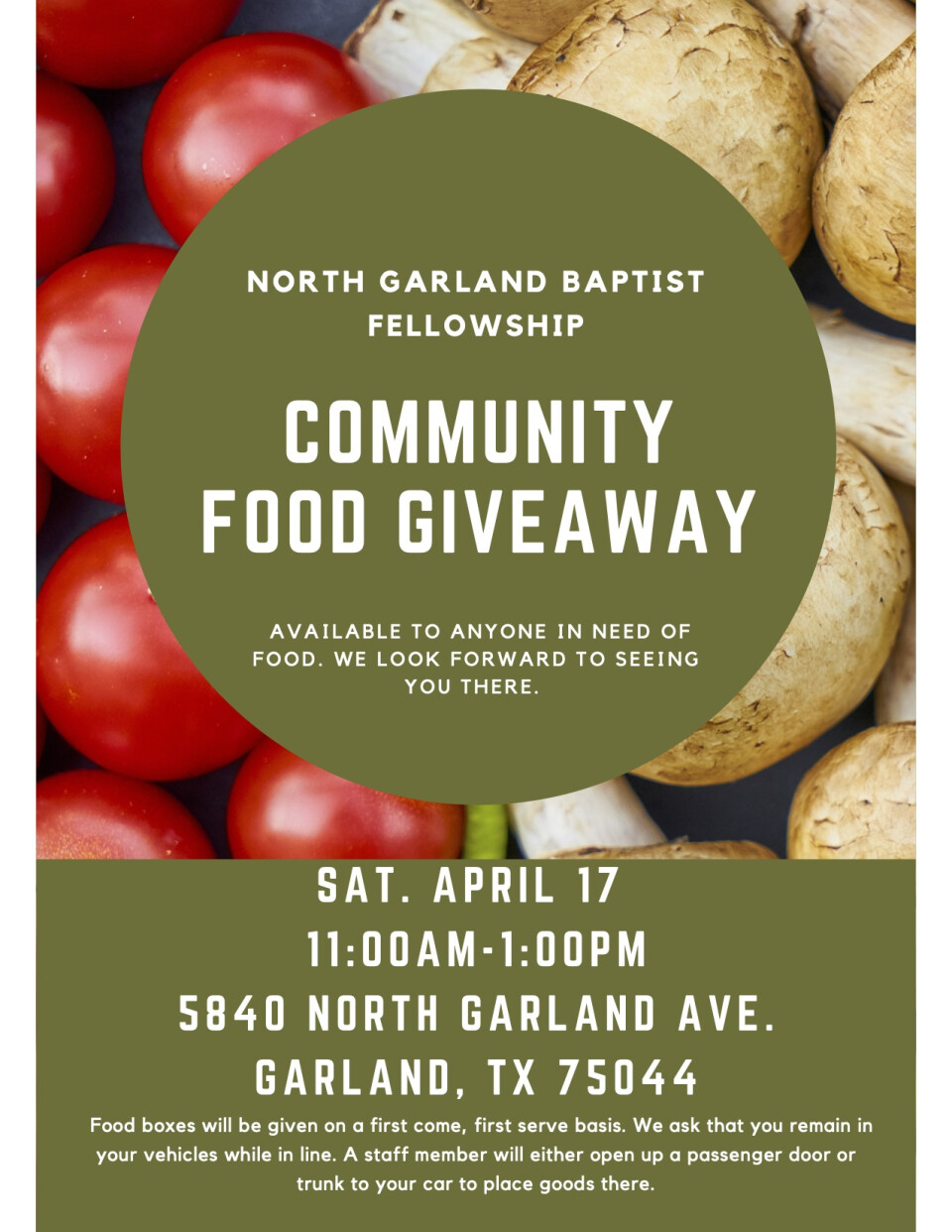 NGBF Community Food Giveaway